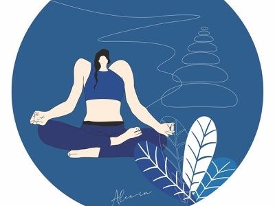Reflections   Yoga ui character design draw minimal illustration