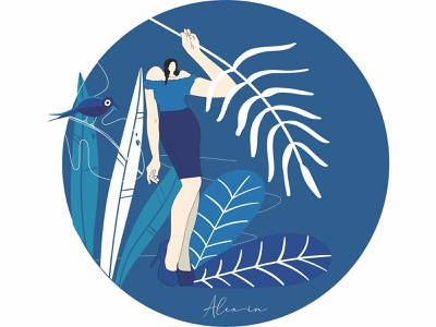 Reflections -  Nature ui character design minimal illustration