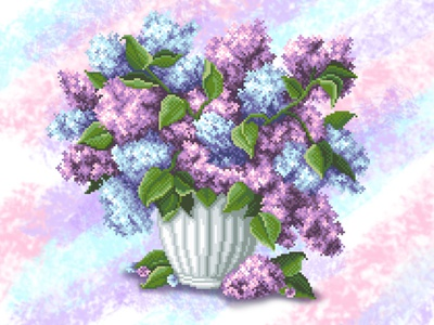 lilac flowers illustration lilac flowers embroidery design pixelart illustration embroidery
