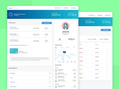 Home banking interactive prototype ux ui ui  ux justinmind prototype app homebanking