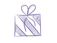 Gift Sketch Icon