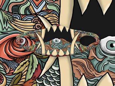 Monster Monsmon design mask illustration