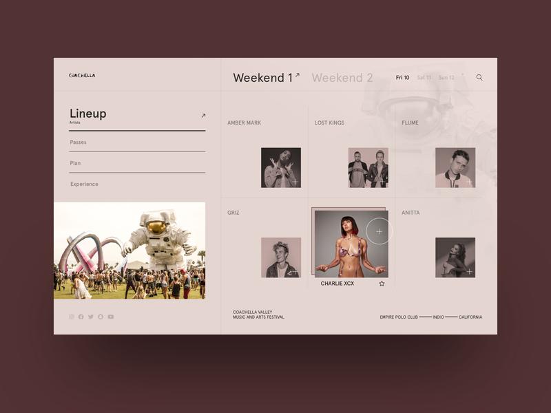 VIV™ – UI/UX Design – Coachella