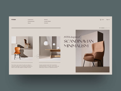 Scandinavian Minimalism furniture scandinavian web design typogaphy interaction flat minimal grid clean website app web dailyui after effects motion design animation design ux ui