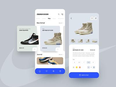 Sneakers App ui ux design dailyui web design app web illustration branding sneakers shoes mobile app adidas nike jordan streetwear mobile minimalism stadium product design