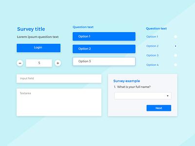 Forms & Surveys UI kit ui kit forms ux design ui design ux ui-ux design ui justinmind