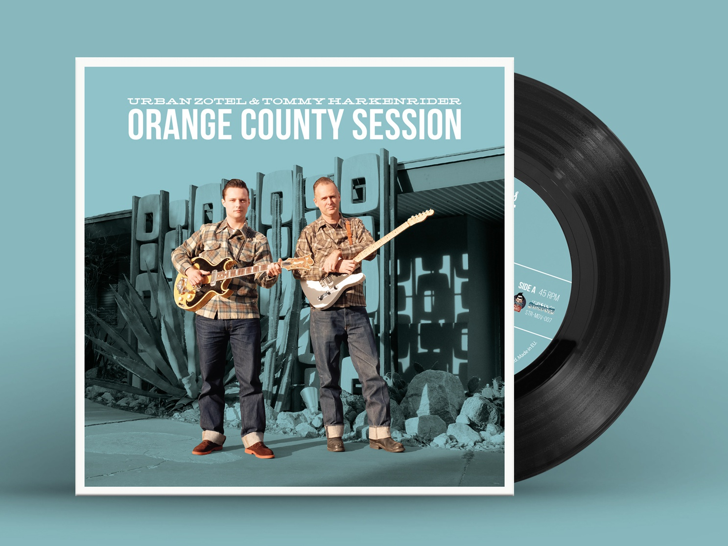 "Orange County Session 7"" Vinyl Cover band mid-century mid-century modern 1950s record cover cover vinyl cover music record vinyl design"
