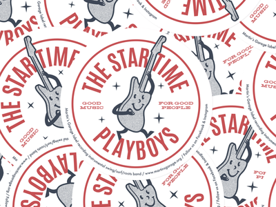 The Star Time Playboys stickers