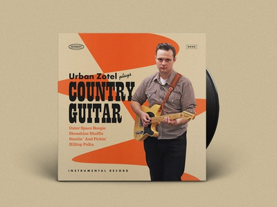 Country Guitar Record Cover