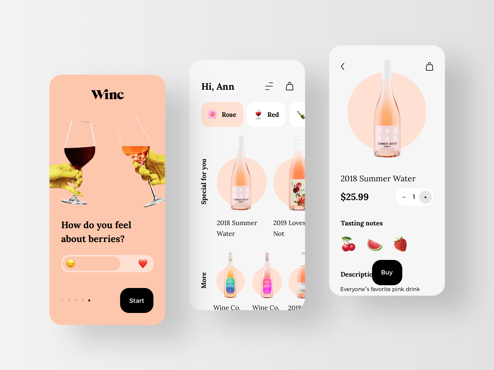 Winc - Wine Guide eCommerce Mobile App