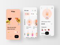 Winc - Wine Guide eCommerce Mobile App winery rondesign wine app ui