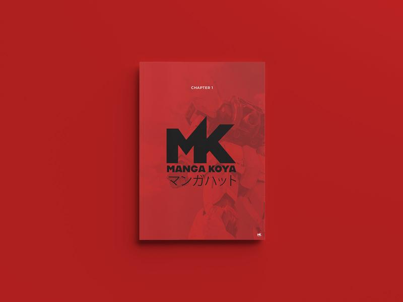 Manga Koya magazine print design branding and identity branding