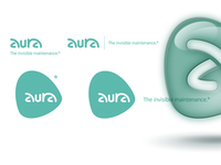 Aura: logo, font and organic forms