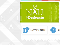 Nau logo and background pattern