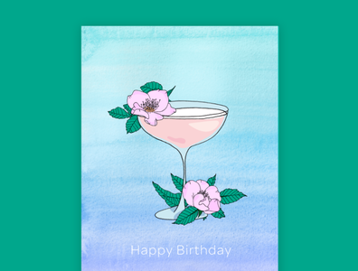 Floral Greeting Cards hand painted floral birthday stationery illustration hand drawn greeting card design