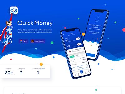 Mobile app for instant money transfers | UI/UX app branding ux ui design