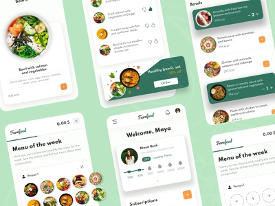 FareFood - Mobile App Design for Food Delivery concept design mobileapp diet nutritionist shipping food delivery order courier delivery service delivery app  delivery service delivery foodie restaurant food app ui ux