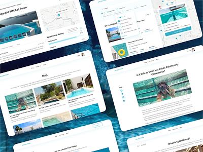 Splashtemp is a public pool finder in North America web ui ux