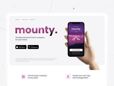 Mounty ui app ux