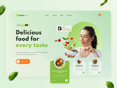 GoodFood concept design product design diet order food delivery delivery service delivery foodie restaurant food web ui ux