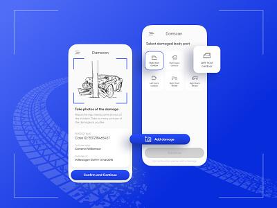 Damscan mobile app app ui ux