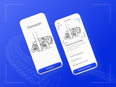 Damscan app ui ux