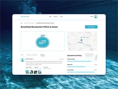 Splashtemp is a public pool finder in North America app design ux ui