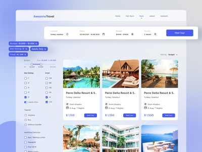 Travel Booking Service: Catalogue Page adventure travel booking trips booking trips tourism vacation trip planner reservation tours travel agency traveling itinerary flights web ux ui