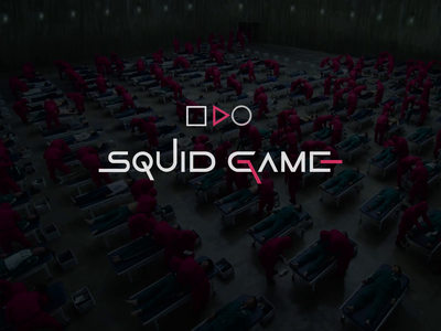 Squid Game: Series Preview Interface gamingsea creature play concept design squid game pinksoldiers video ui uiux web playlist episode series tv animation netflix film service of films