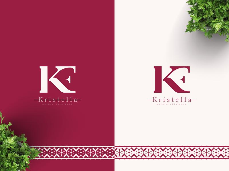 Kristella  Branding simple logo modernlogo vector logo negativespace minimal design branding