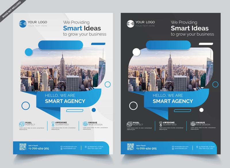 Business Flyer Design Template web vector template shutterstock post real estate brochure design agency banner business flyer