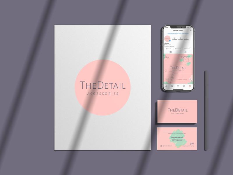 Brand Identity for Instagram store typography minimal design branding web