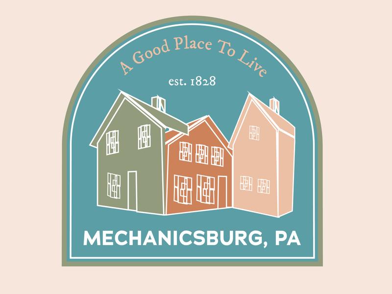 22 of 50 Daily Logo Challenge City mountains town pennsylvania mechanicsburg city dailylogo dailylogochallenge illustration branding typography logo design