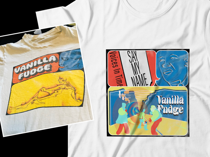 Dribbble Weekly Warmup Graphic Band Tee warmup dribbble rock voices in time say my name vanilla fudge dribbble rebound logo design illustration band tee dribbbleweeklywarmup