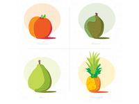 Illustration of Organic Fruit fruit simple illustrator vector hand drawn illustration branding typography logo design