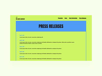 Press Page app product product design web ui figma interaction design ux design dailyui
