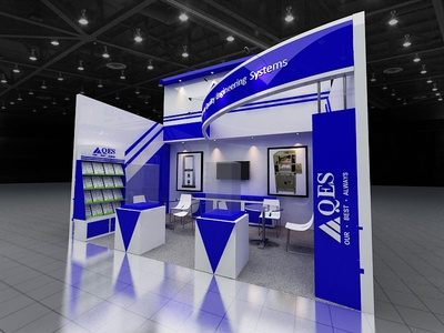 QES Booth Exhibition product design 3dsmax 3d design designs exhibition booth design exhibition booth design booth