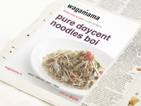 Wagamama Newspaper Advert