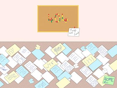 Error 404 design fictional illustration graphic design