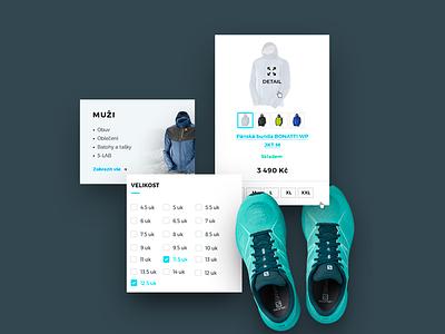 Salomon UI sport user interfaces uc design webdesign slmn salomon shop ecommmerce ui kit