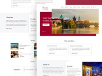 New wordpress theme for Praguecastle.com