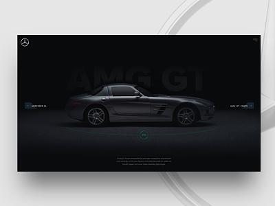 AMG GT concept ux ui design concept website car
