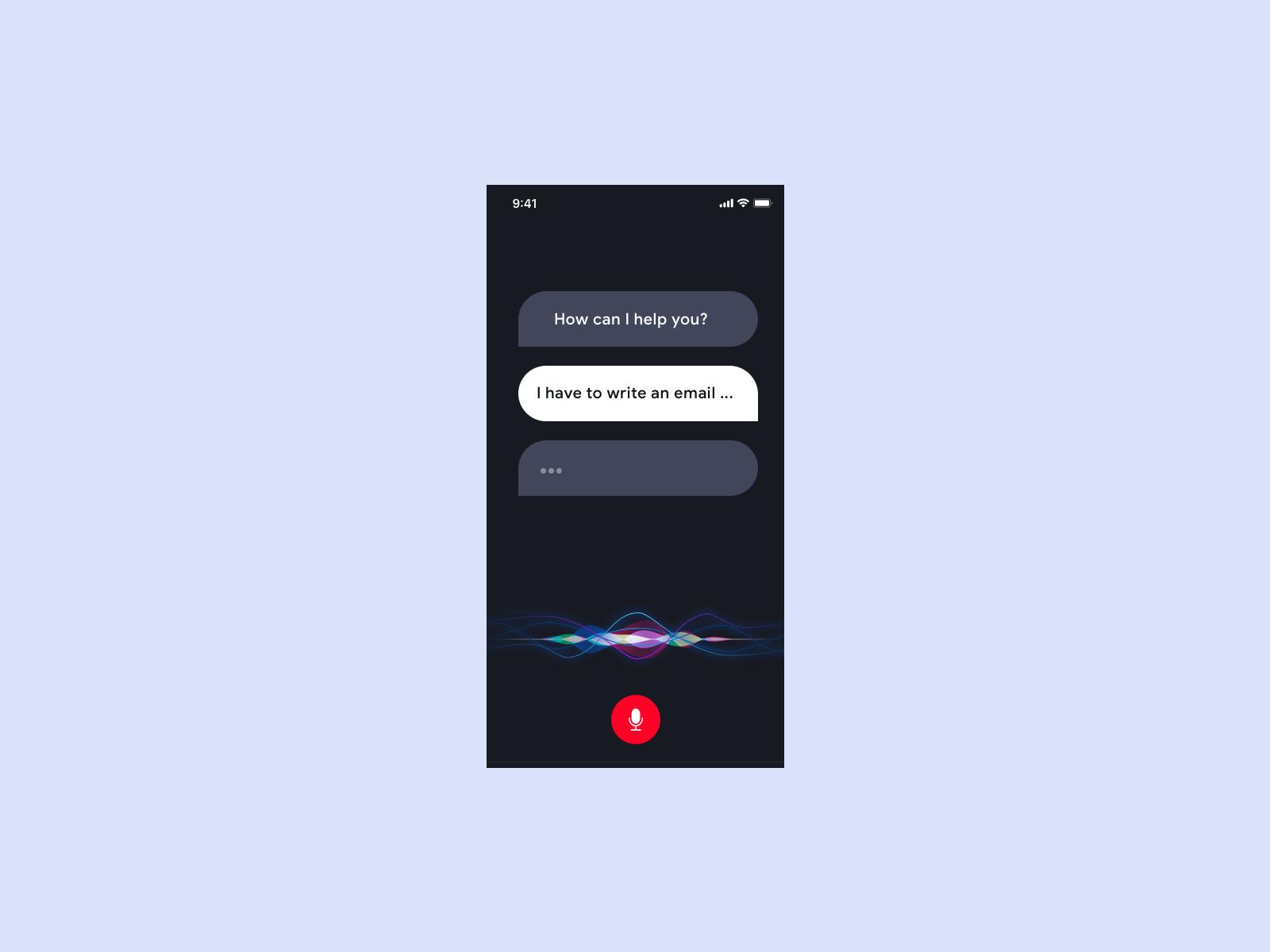 Concept app siri clean ui design ui  ux design mobile ios application app