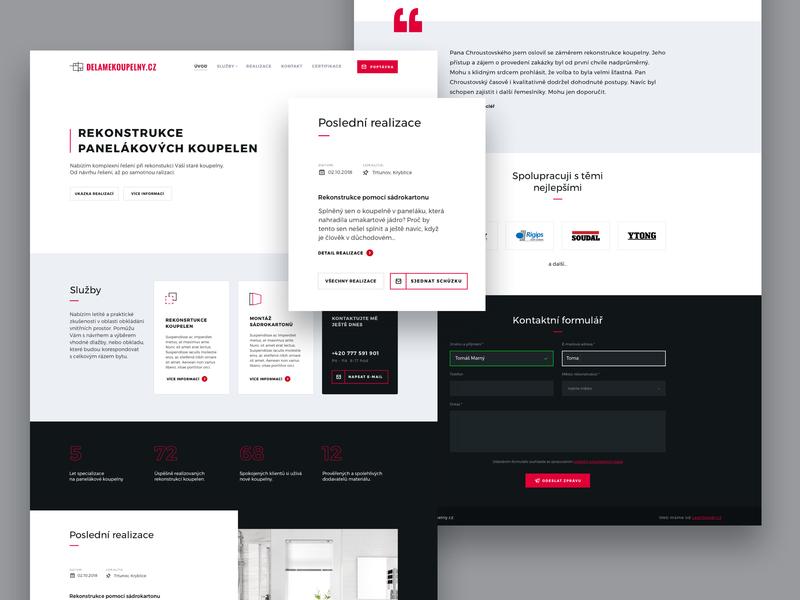 Děláme koupelny ux designer ui designers webdesigner czech clean ux design web design uidesign wordpress theme for wordpress theme