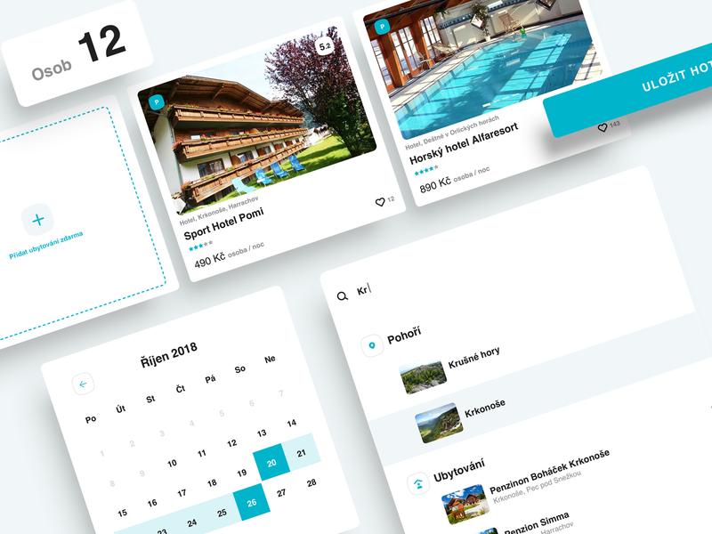 Booking Hotel UI upload search bar calendar modern minimal clen ui deign portal ui hotel booking