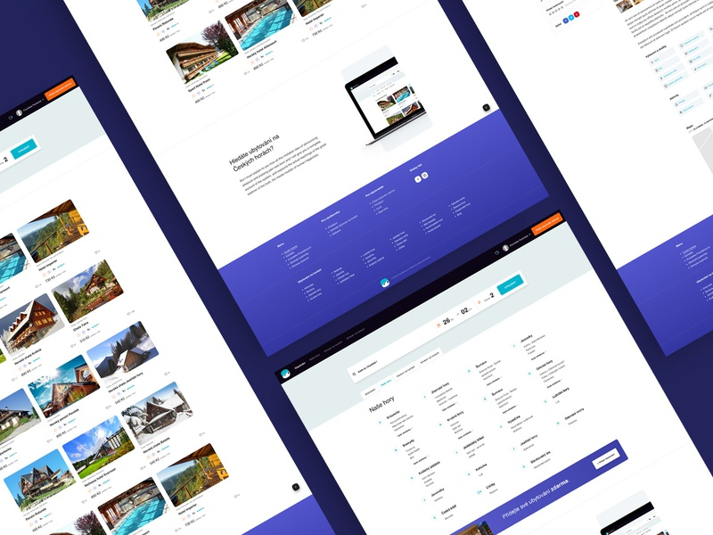 Accommodation in the mountains responsive ios czech web designer ui elements czech mountain portal modern clean ux design uidesign