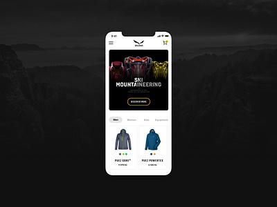 Salewa lschngr czech ux ui design apple ios shop mobile concept salewa