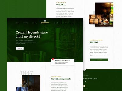 Stara Myslivecka wpsharks template theme wordpress web user interfaces ui ux ui design whiskey gin drink czech stara myslivecka