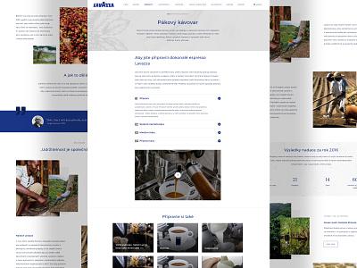 Espresso Lavazza ui design web design redesign lavazza espresso
