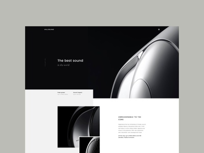 Valsound ux design ui design ux designer uidesigner template theme wordpress black  white minimal uidesign